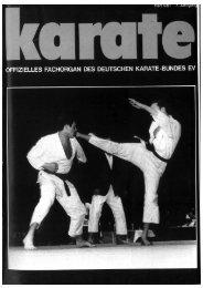 DKB-Fachorgan Nr. 4 - Chronik des deutschen Karateverbandes