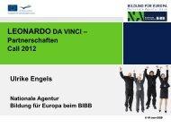 LDV Partnerschaften - Call 2012 - NA-BIBB