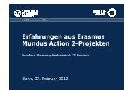 Erfahrungen aus Erasmus Mundus Action 2-Projekten - DAAD