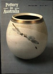 Pottery In Australia Vol 21 No 1 May June 1982