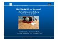 ERASMUS SMS - Fakultät für Bauingenieur- und ...