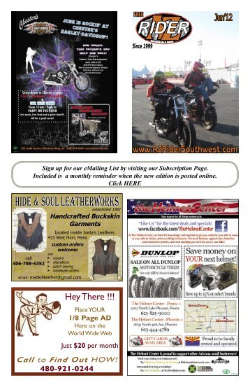 hide & soul leatherworks - AZ Rider Motorcycle News