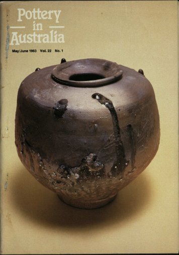 Pottery In Australia Vol 22 No 1 May June 1983