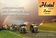 Motorradhotel mit Garantie für einen perfekten Bike-Urlaub