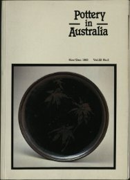 Pottery In Australia Vol 22 No 2 November December 1983