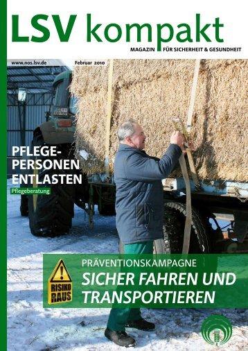 sicher Fahren und TransporTieren - Die Landwirtschaftliche ...