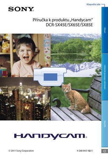 Sony DCR-SX65E - DCR-SX65E Consignes d'utilisation Tchèque