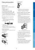 Sony DCR-SX65E - DCR-SX65E Consignes d'utilisation Tchèque - Page 3