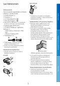 Sony DCR-SX65E - DCR-SX65E Consignes d'utilisation Finlandais - Page 3