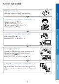Sony DCR-SX65E - DCR-SX65E Consignes d'utilisation Finlandais - Page 6