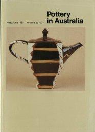 Pottery In Australia Vol 23 No 1 May June 1984