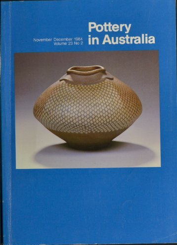 Pottery In Australia Vol 23 No 2 November December 1984