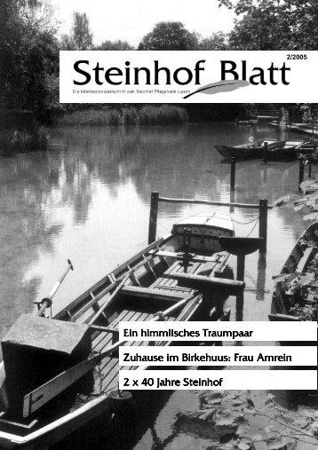 Steinhofblatt, Ausgabe Juni 2005 (PDF, 2853 KB) - Steinhof ...
