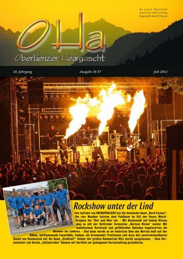 OHa Nr. 37 - Juli 2012 - Sonnendörfer - Oberlienz, Thurn, Gaimberg