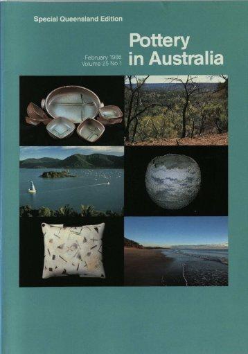 Pottery In Australia Vol 25 No 1 February 1986