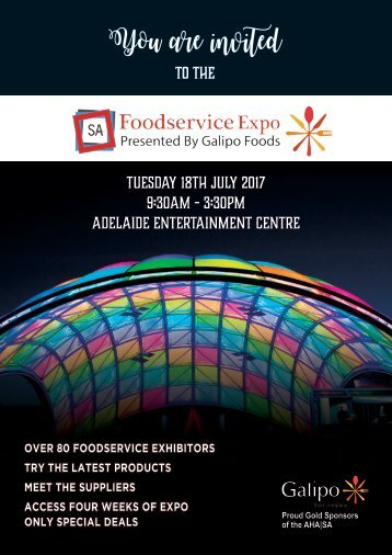 2017 Expo Brochure for Foodservice singles