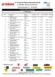Int. Deutsche Motorradmeisterschaft - Marc Neumann