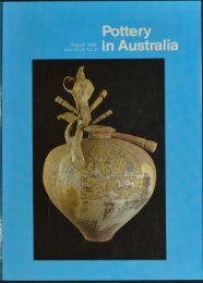 Pottery In Australia Vol 25 No 3 August 1986