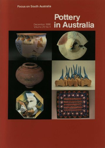 Pottery In Australia Vol 25 No 4 December 1986