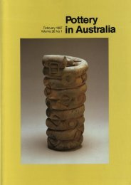 Pottery In Australia Vol 26 No 1 February 1987