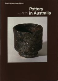 Pottery In Australia Vol 26 No 2 May 1987