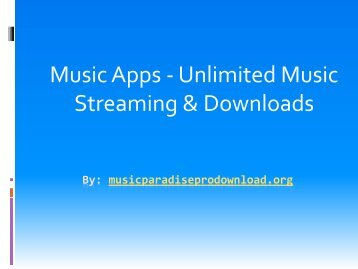 Music Apps - Unlimited Music Streaming & Downloads
