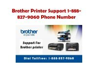 Brother Printer Support 1-888-827-9060 Phone Number