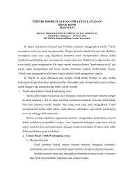 TEHNIK MOBILITAS DAN STRATEGI LAYANAN - Direktori File UPI