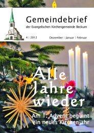 Gut für die Region - Evangelische Kirchengemeinde Beckum