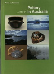 Pottery In Australia Vol 26 No 3 August 1987