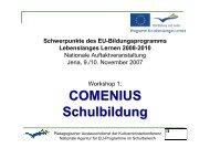 COMENIUS Schulbildung - DAAD