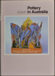 Pottery In Australia Vol 26 No 4 December 1987