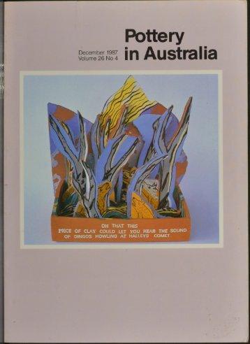 Pottery In Australia Vol 26 No 4 December 1987