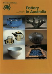 Pottery In Australia Vol 27 No 2 May 1988