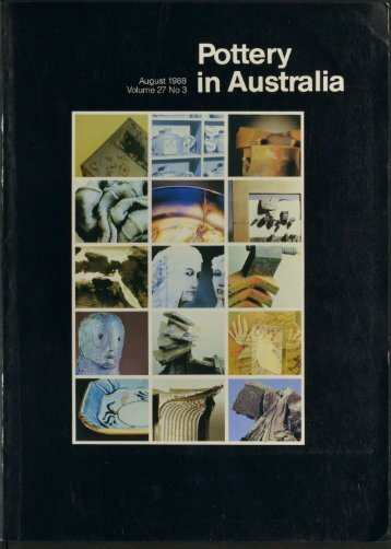 Pottery In Australia Vol 27 No 3 August 1988