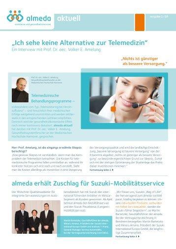 """""""Ich sehe keine Alternative zur Telemedizin"""" - Almeda"""