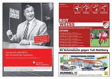 Ausgabe 1, Saison 2011/2012 - SV Schmieheim