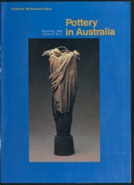 Pottery In Australia Vol 27 No 4 December 1988