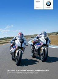 2012 FIM SUPERBIKE WORLD CHAMPIONSHIP. BMW Motorrad ...