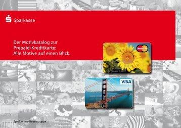 Der Motivkatalog zur Prepaid-Kreditkarte - Sparkasse Hildesheim