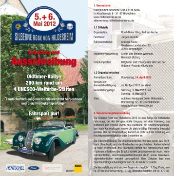 Silberne Rose von Hildesheim 2012 - Rallyeschilder de