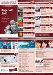 Angebote 2012 - Tipps gegen Stress