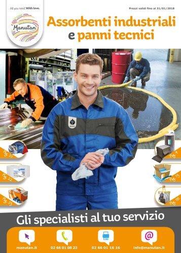 Assorbenti industriali e panni tecnici