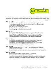 CARRIVA – ein revolutionäres Mitfahrsystem für den ... - Mobilität 21