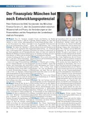 Der Finanzplatz München hat noch Entwicklungspotenzial - Vescore
