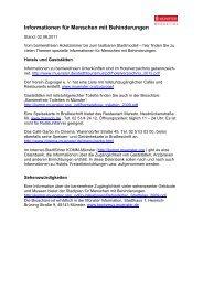 Informationen für Menschen mit Behinderungen - KOMM Münster