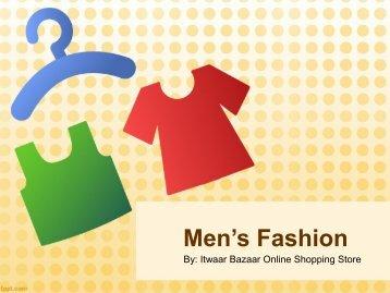 Pakistani Men's Fashion Online Shopping by Itwaarbazaar.pk