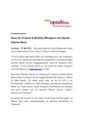 Neue Air Product & Mobility Managerin bei Opodo - Sabrina Benz