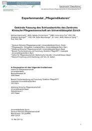 """Expertenmandat """"Pflegeindikatoren"""" - Schweizer Berufsverband der ..."""