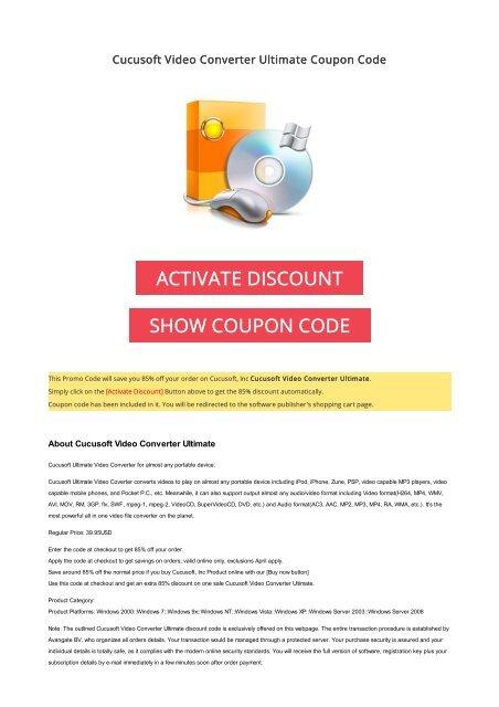 cucusoft coupon code